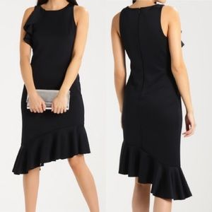 Banana Republic Flounced Asymmetric Sheath Dress